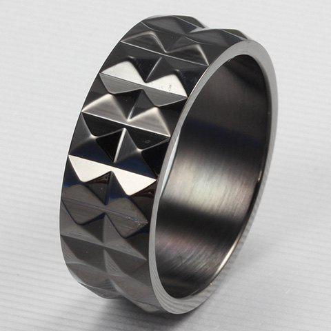 ONE PIECE Gothic Style Black Titanium Steel Men's Ring -  BLACK