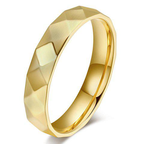 ONE PIECE Carving Rhombus Shaped Ring - GOLDEN