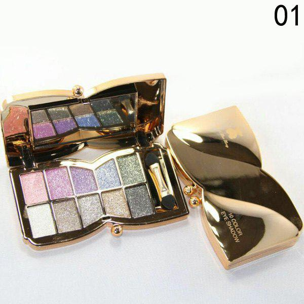 Cosmetic 10 Colours Sparkly Diamond Eye Shadow Palette with Mirror and Brush -