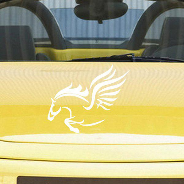 Chic Waterproof Horse Pattern Car Sticker For Automotive Decorative Supplies -  WHITE
