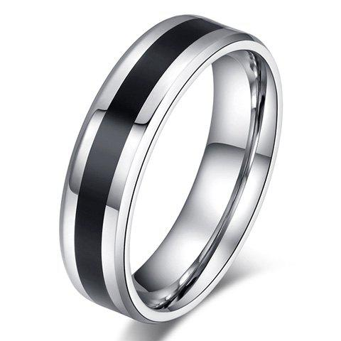 ONE PIECE Punk Style Black Ring For Men - BLACK