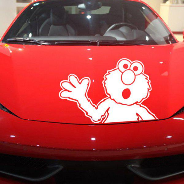 Chic Waterproof Sesame Street Pattern Car Sticker For Automotive Decorative Supplies - WHITE