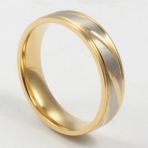 ONE PIECE Simple Gold Plated Alloy Geometirc Women's Ring one piece simple gold plated fashion alloy rhinestone ring for men