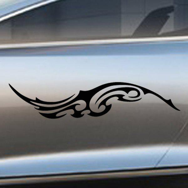 Chic Waterproof Totem Pattern Car Sticker For Automotive Decorative Supplies - BLACK