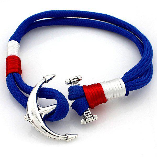 Layered Anchor Knitted Bracelet