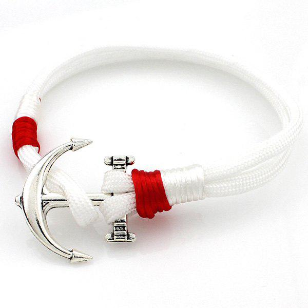 Layered Anchor tricotée Bracelet - Blanc