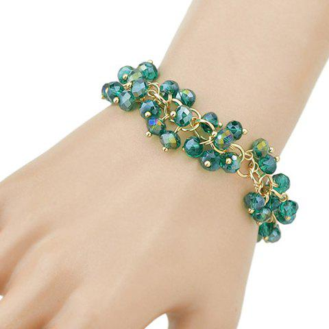 Grape Pip Shape Faux Gem Bracelet - GREEN
