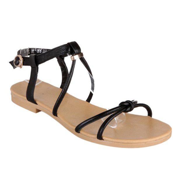 Casual Solid Color and Flat Heel Design Women's Sandals