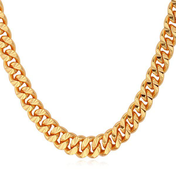 Alloy Link Chain Necklace - GOLDEN