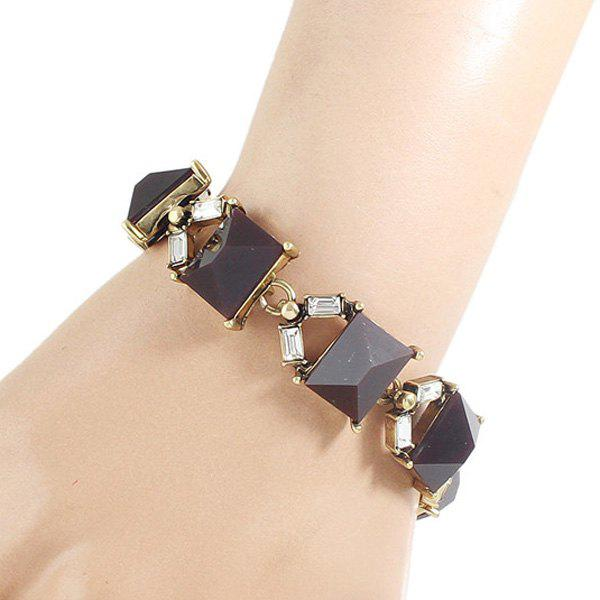 Chic Rectangle Acrylic Hollow Out Women's Bracelet