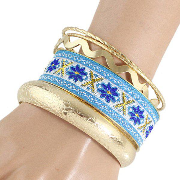 Flower Multilayered Bracelet - GOLDEN