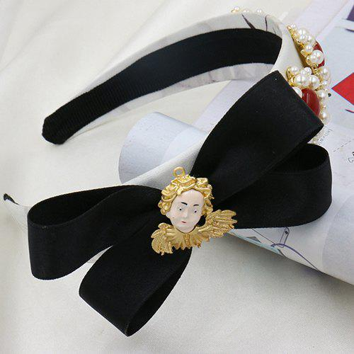 Graceful Faux Pearl Bowknot Hairband For Women