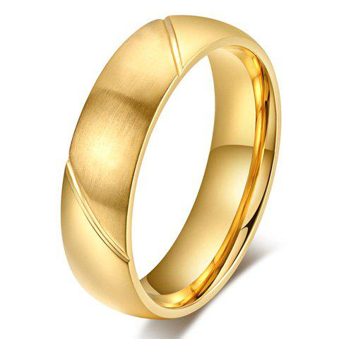 ONE PIECE Simple Gold Plated Rhinestone Men's Ring - GOLDEN
