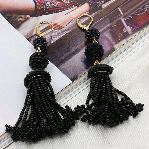 Pair of Beads Drop Earrings pair of beads teardrop shape drop earrings