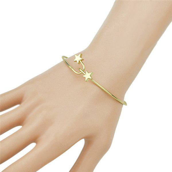 Five-Pointed Star Cuff BraceletJewelry<br><br><br>Color: GOLDEN