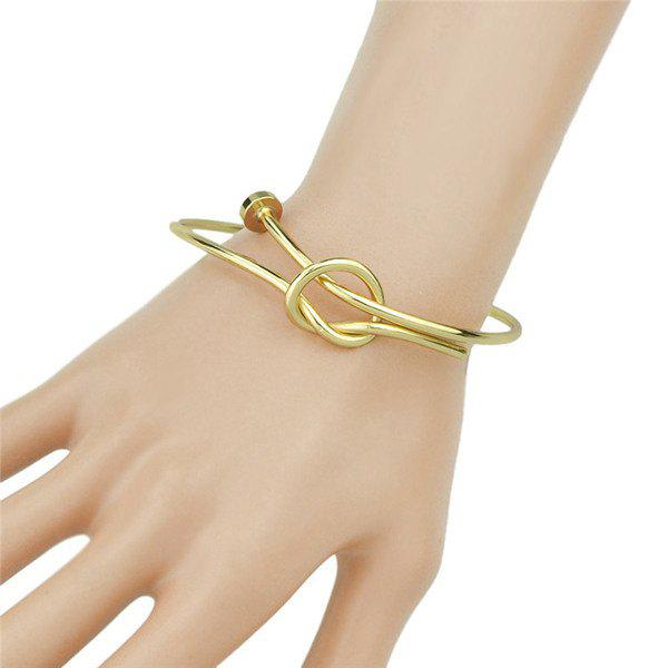 Knotted Cuff Bracelet - GOLDEN
