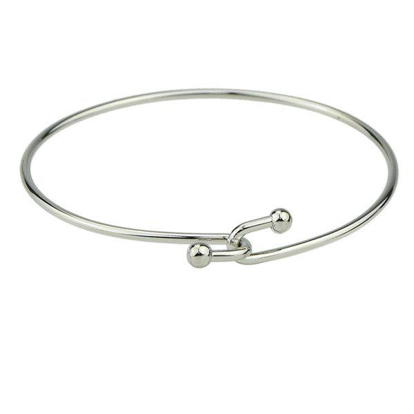 Polished Alloy Overlap Bracelet - SILVER
