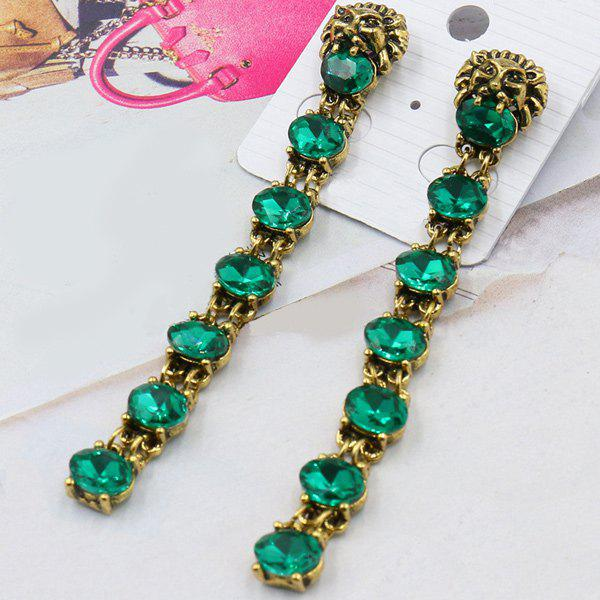 Pair of Vintage Faux Gemstone Earrings For Women