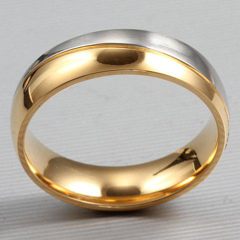ONE PIECE Simple Smooth Design Alloy Men's Ring -  GOLDEN