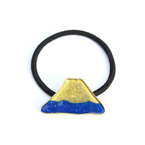 Simple Mount Fuji Pattern Elastic Hair Band For Women - DEEP BLUE