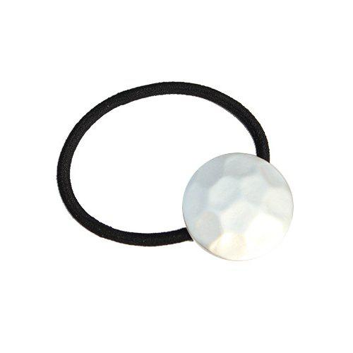 Simple Frosted Round Elastic Hair Band For Women - SILVER