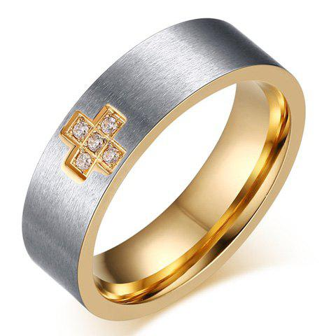 One Piece Simple géométrique strass alliage hommes s 'Ring - Argent