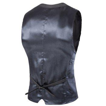 Slim Fit Single Breasted Men's Solid Color Waistcoat - 2XL 2XL