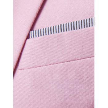 Casual Three Quarter Sleeve Solid Color Men's Blazer - PINK M
