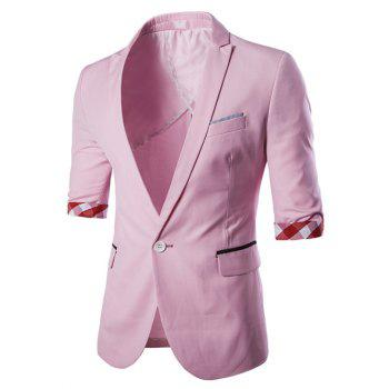 Casual Three Quarter Sleeve Solid Color Men's Blazer