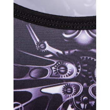 Personality Round Neck Human Skeleton Printed Tank Top For Men - COLORMIX M