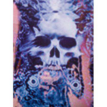 Fashion 3D Round Neck Skulls Printed Tank Top For Men - COLORMIX M
