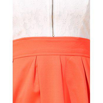 Chic Women's Hit Color Spaghetti Strap Blouse - WHITE WHITE