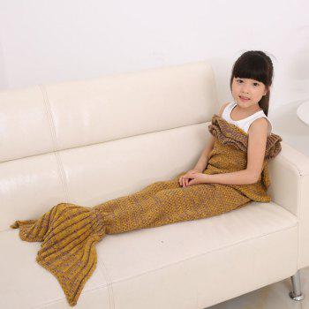 Flouncing Sleeping Bag Knitting Mermaid Blanket For Kids