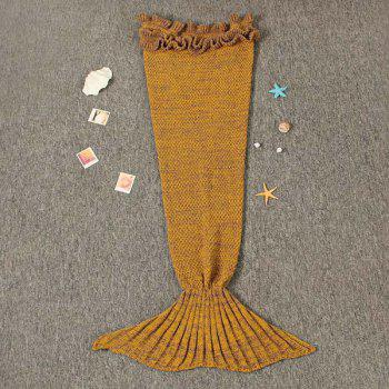 Flouncing Sleeping Bag Knitting Mermaid Blanket For Kids - GINGER