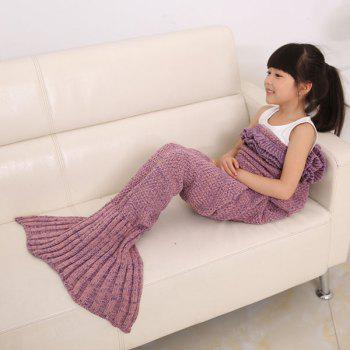 Flouncing Sleeping Bag Knitting Mermaid Blanket For Kids - PLUM PLUM