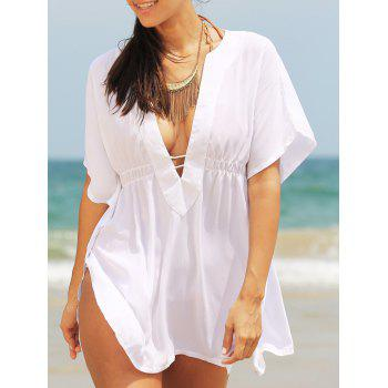 Chic Women's Plunging Neck Loose Cover Up
