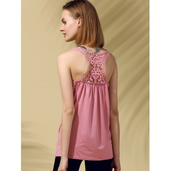 Racerback Lace Trim Tank Top
