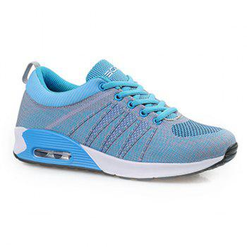 Leisure Mesh and Color Block Design Women's Sneakers
