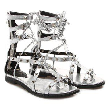 Fashionable Rivets and Cross Straps Design Women's Sandals
