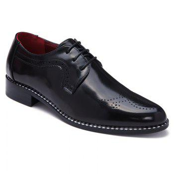 Fashionable Engraving and Black Colour Design Men's Formal Shoes