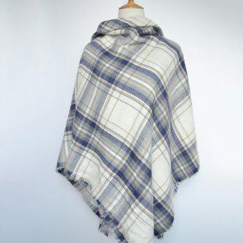Chic Fringed Edge Tartan Pattern Women's Warmth Big Square Pashmina