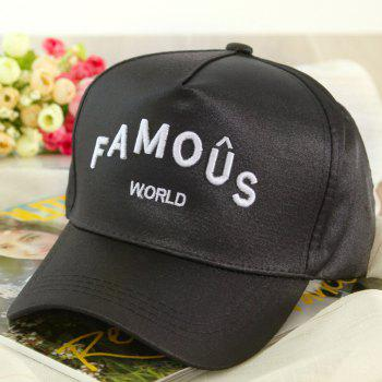 Summer Stylish Letters Embroidery Hip-Hop Men's Baseball Cap