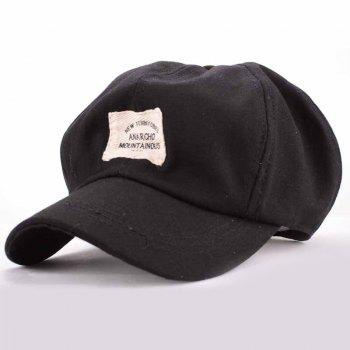 Summer Chic Letter Applique Embellished Women's Retro Newsboy Hat