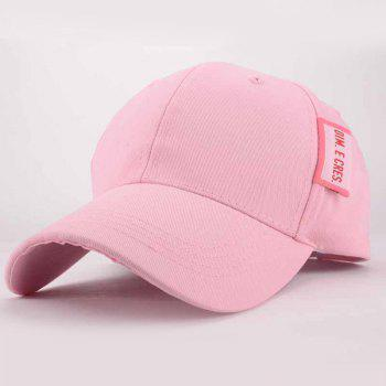 Chic Letter Tag Embellished Fresh Summer Women's Baseball Cap