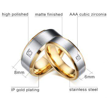 One Piece Rhinestone Gold Plated Ring - SILVER