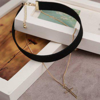 Vintage Layered Cross Choker Necklace For Women