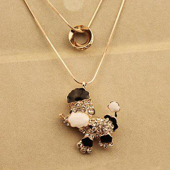 Graceful Layered Rhinestone Puppy Sweater Chain For Women