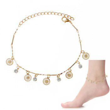 Delicate Faux Zircon Hollow Out Foot Bracelet