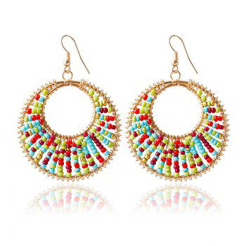 Pair of Bead Round Drop Earrings