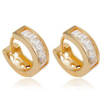Pair of Sparkly Rhinestone Hollow Out Clip Earrings For Women